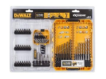 DT70759 Mixed Drill & Bit Set, 63 Piece
